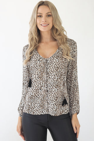 Clementine Snow leopard Top