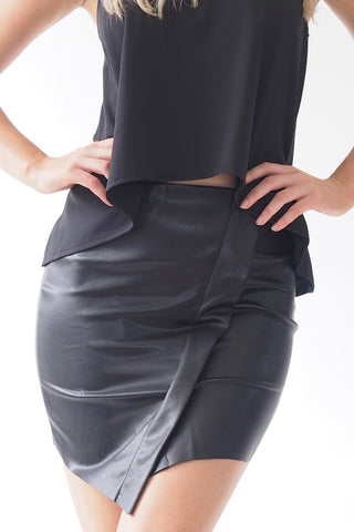 Pleather Skirt - Black