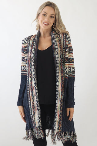 Arya Cardi - Navy/ Multicoloured