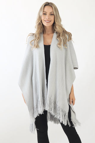 Knit poncho- Grey