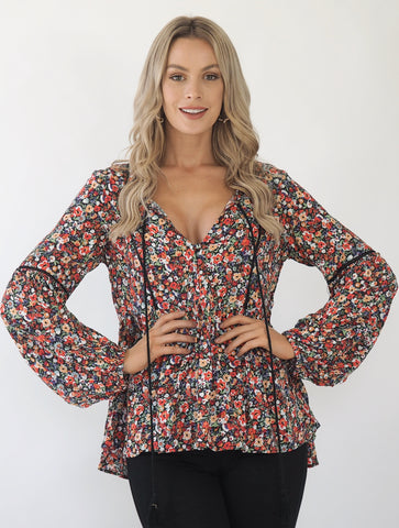 Clementine floral top- Multi colour