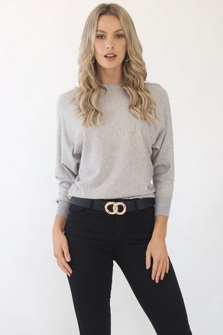 Kenzie Grey Knit - Grey