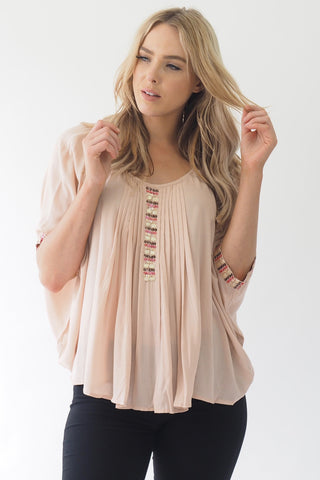 Lola Embroided Top - Dusty - Sage Collective