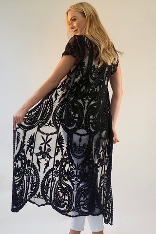 Sahara Lace Cape - Black