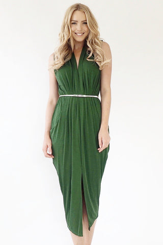 Gaia Dress -Emerald Green
