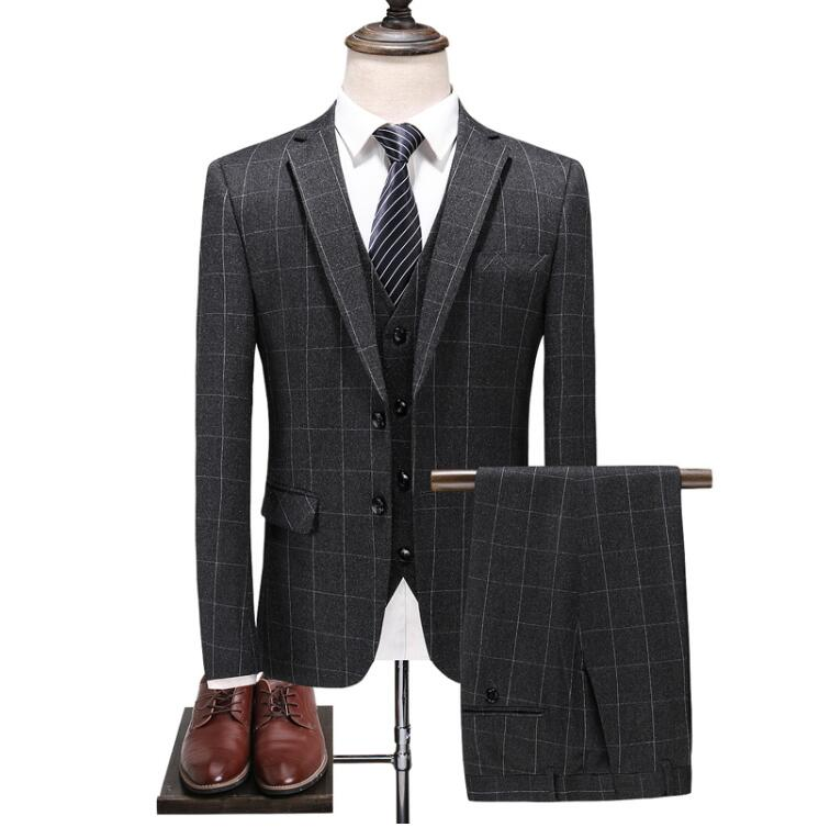 Custom Made Plaid Suit
