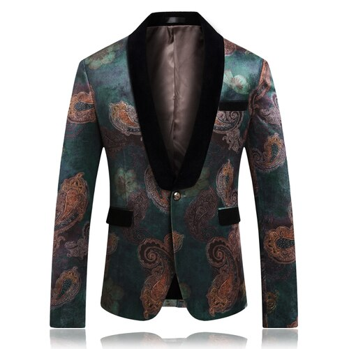 Slim Fit Printed Blazer