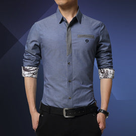 Long Sleeve Slim Cotton Shirt