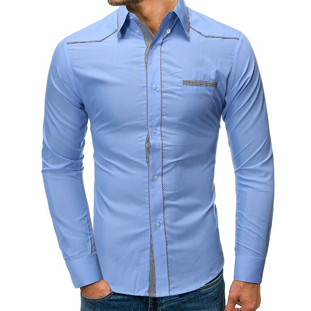Turn-neck Long Sleeve Shirt