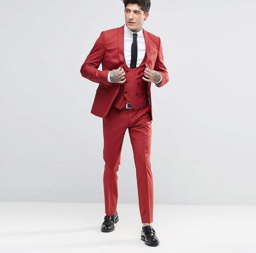Red Slim Fit Party Tuxedo