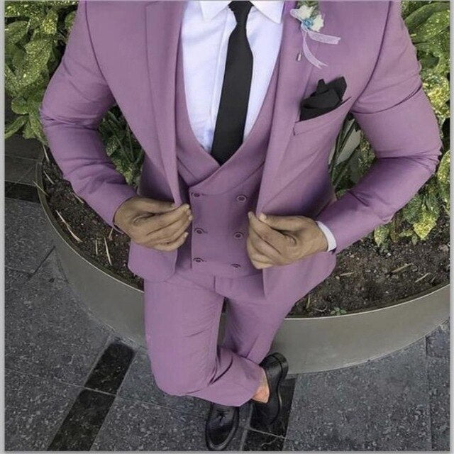 Purple Men's Slim Fit Suit