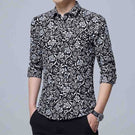 Slim Fit Sleeve Floral Shirt