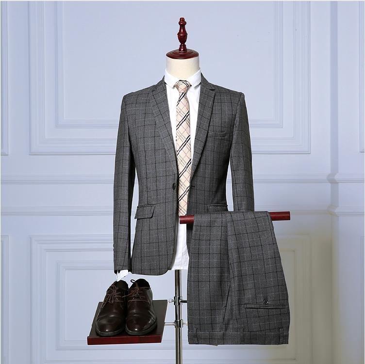 Plaid Wedding Blazer Suit