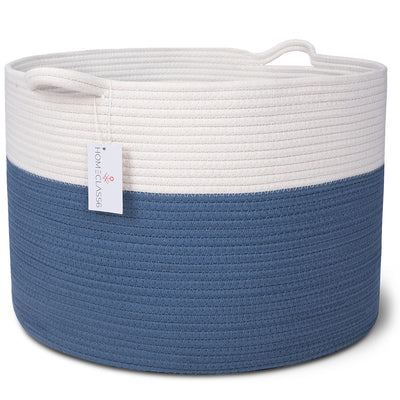 Cotton Rope Storage Basket (Blue)