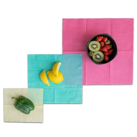 Organic Reusable Beeswax Food Wrap (Assorted 3 Pack)