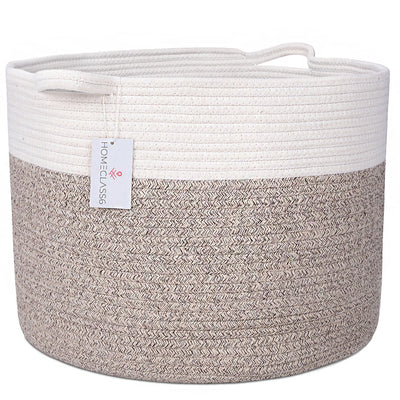 Cotton Rope Storage Basket (Lt Brown Mix)