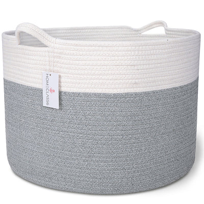 Cotton Rope Storage Basket (Lt Gray Mix)