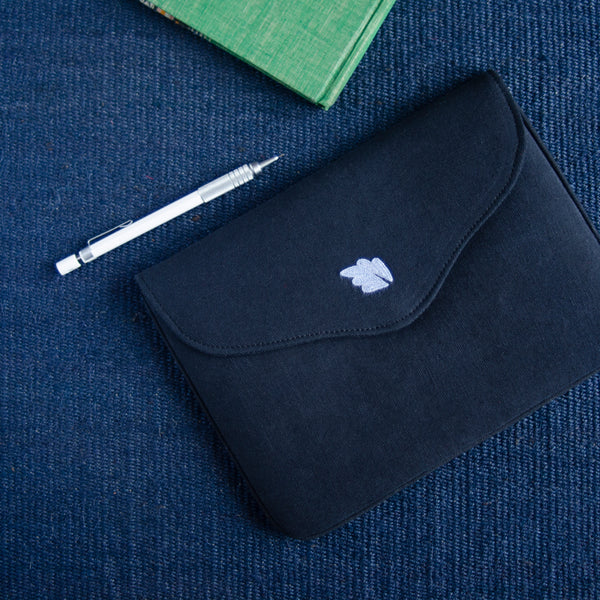 Bouquet Series - Mini-Tablet Sleeve (Black 1) - Made in Kashmir