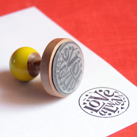 Love Always Rubber Stamp