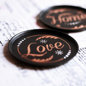 June Coasters (Set of 2 - Home, Love)