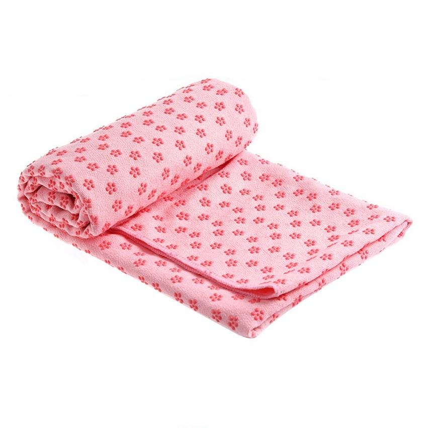 serviette yoga rose