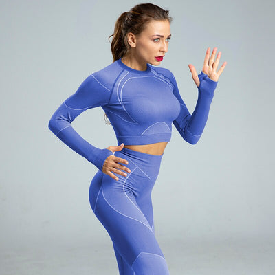 ensemble sport running bleu