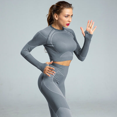ensemble sport running gris