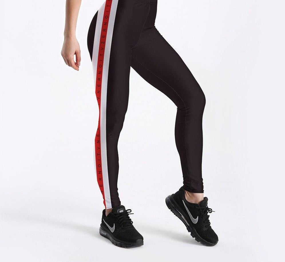 legging bande rouge