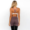 ensemble brassiere legging marron
