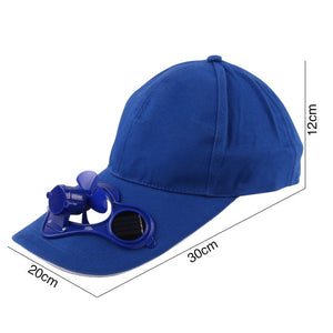 Hot Men Women Solar Power Sun Baseball Hats With Cooling Fan