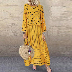 Women long maxi dresses Polka dot large loose