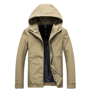 Jacket Men New Arrival Casual Solid Hooded Jackets