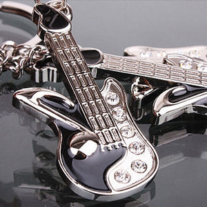 Fashion Keychain Mini Guitar Key Ring