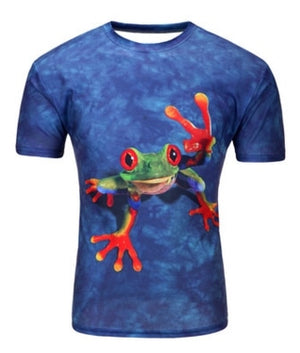 3D Print Short Sleeves Men t shirt