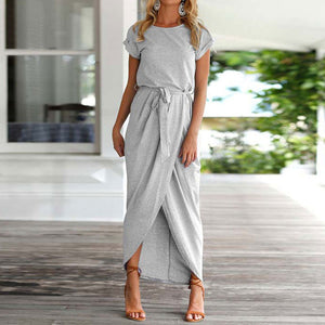Plus Size Women Summer Long Maxi Dress