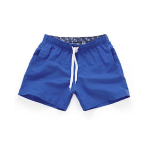 Plus Size Swimwear Men Solid Quick Dry Shorts
