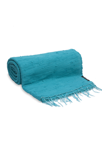 Aqua Blue Plain Throw