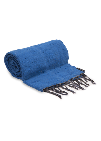 Royal Blue Plain Throw