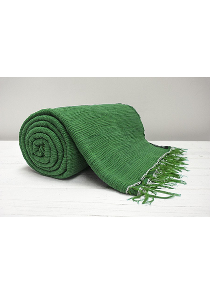 Green Plain Throw