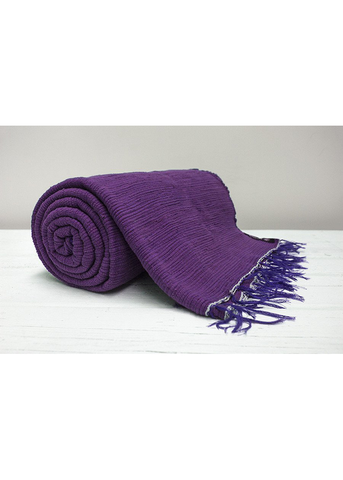 Purple Plain Throw