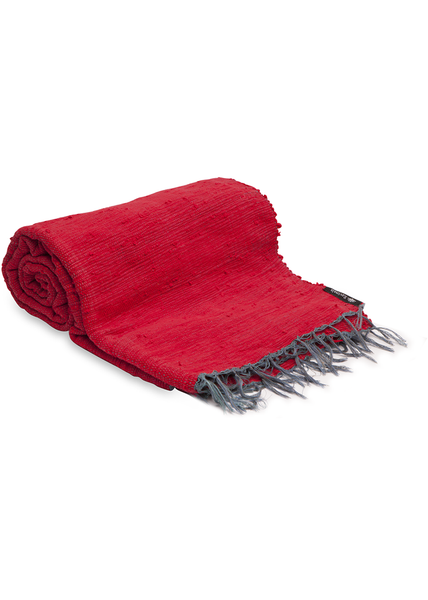Red Plain Throw