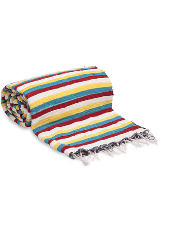 Yellow Stripy Throw