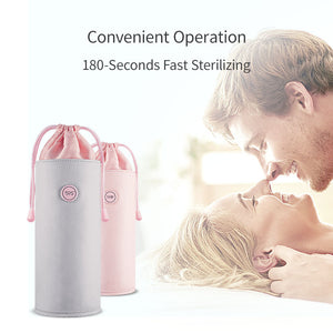 59S LED UVC Sterilization Bag Toys Makeup Tools Underwear Disinfection Storage Bag