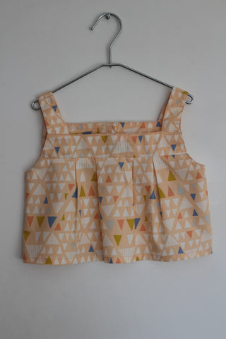 Triangle print top
