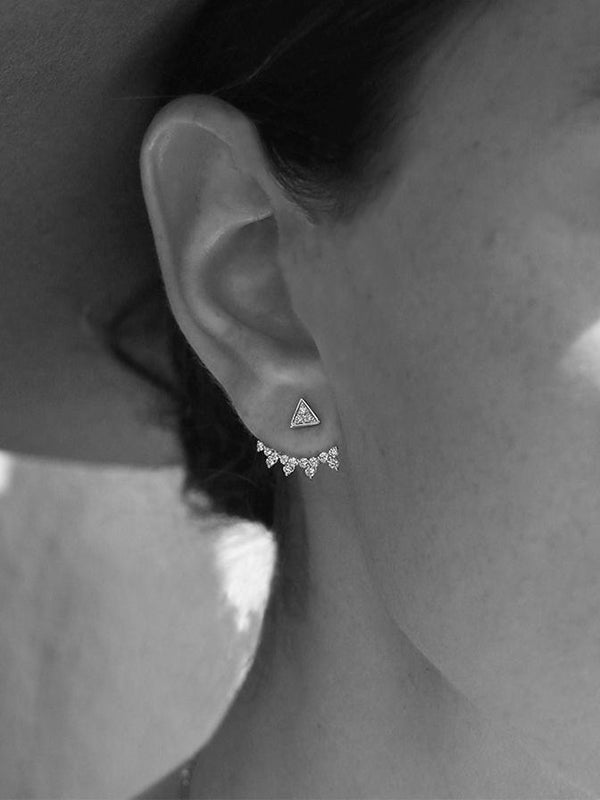 SPIKED DIAMOND EAR CUFF PAIR