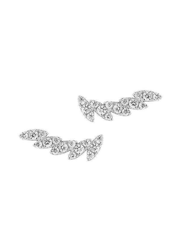 MARQUISE SHAPED DIAMOND EAR CUFF PAIR