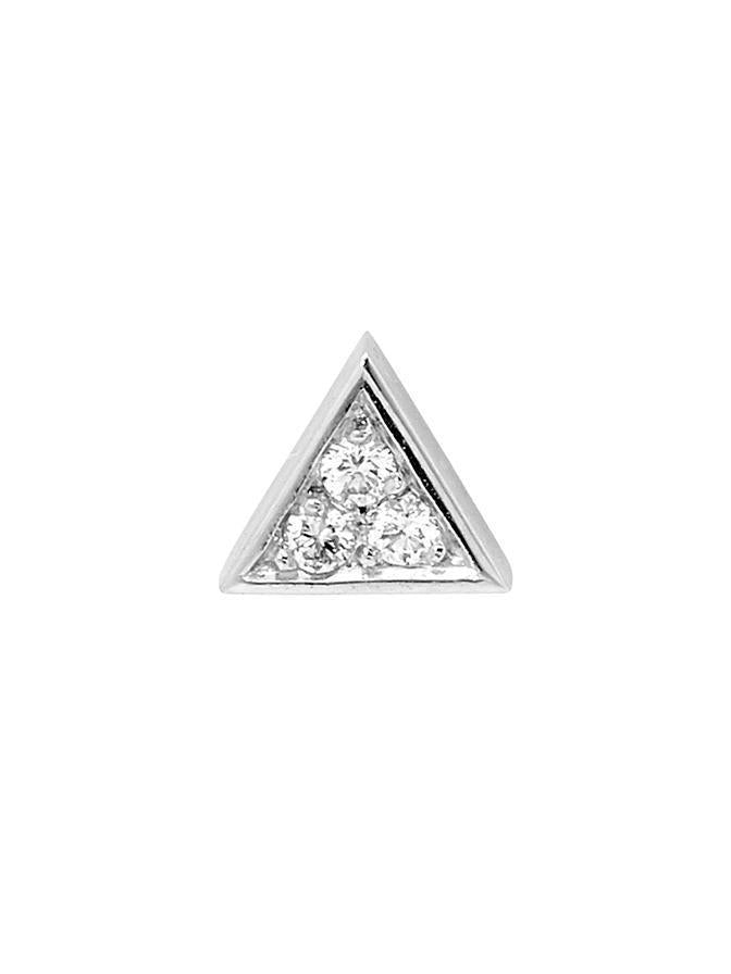 WHITE GOLD DIAMOND TRIANGLE STUD SINGLE