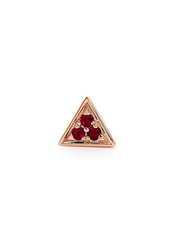 ROSE GOLD RUBY STUD SINGLE