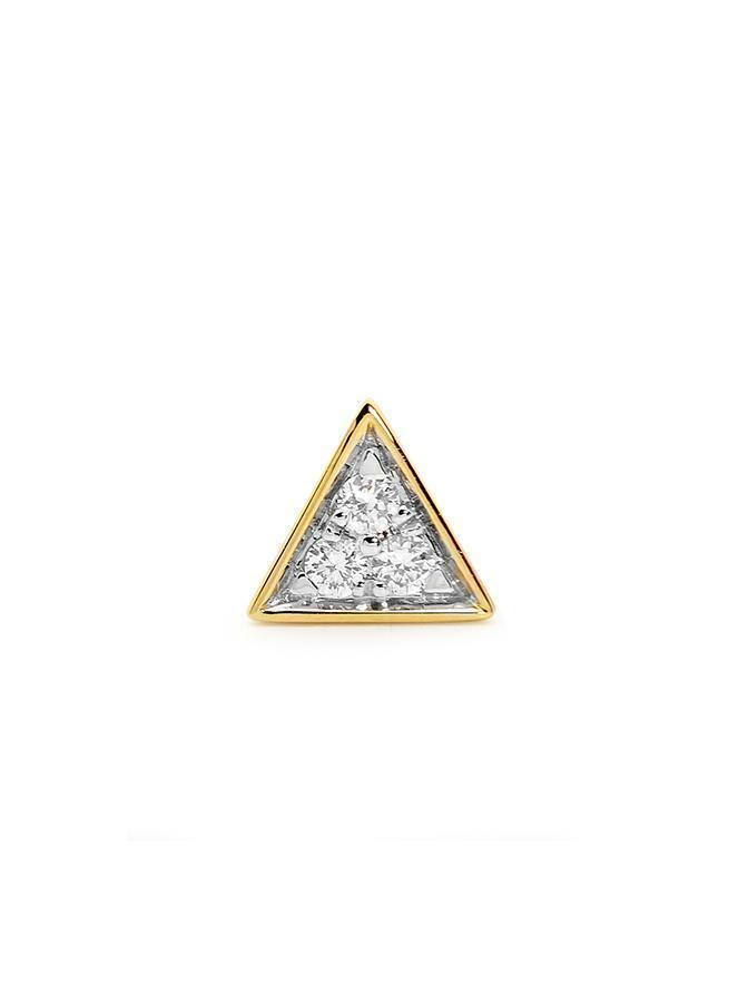 YELLOW GOLD TRIANGLE STUD SINGLE