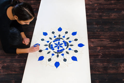 mandala yoga mat drawing